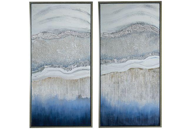 Marina Blue Set Of 2 Framed Wall Art
