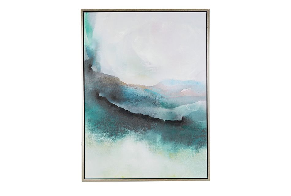 Olive Teal Framed Wall Art