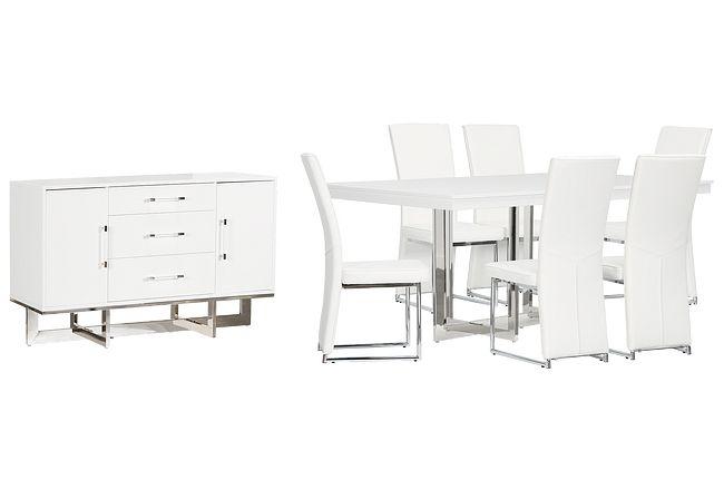 Cortina White Dining Room