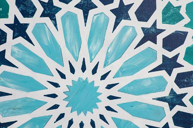 Monika Blue Framed Canvas Wall Art (1)