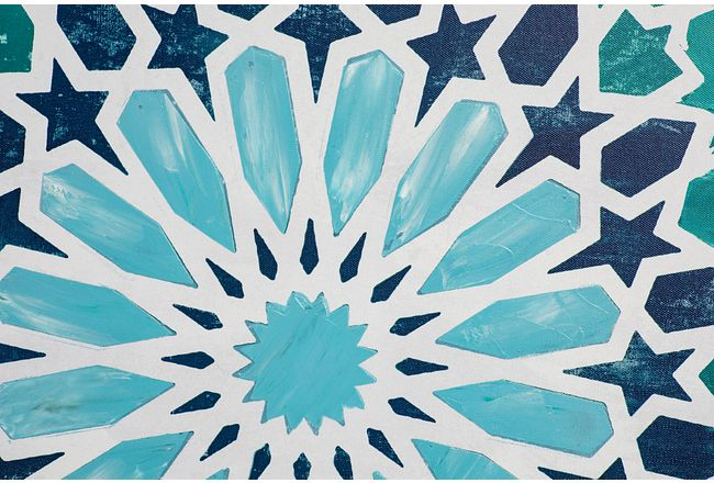 Monika Blue Framed Canvas Wall Art