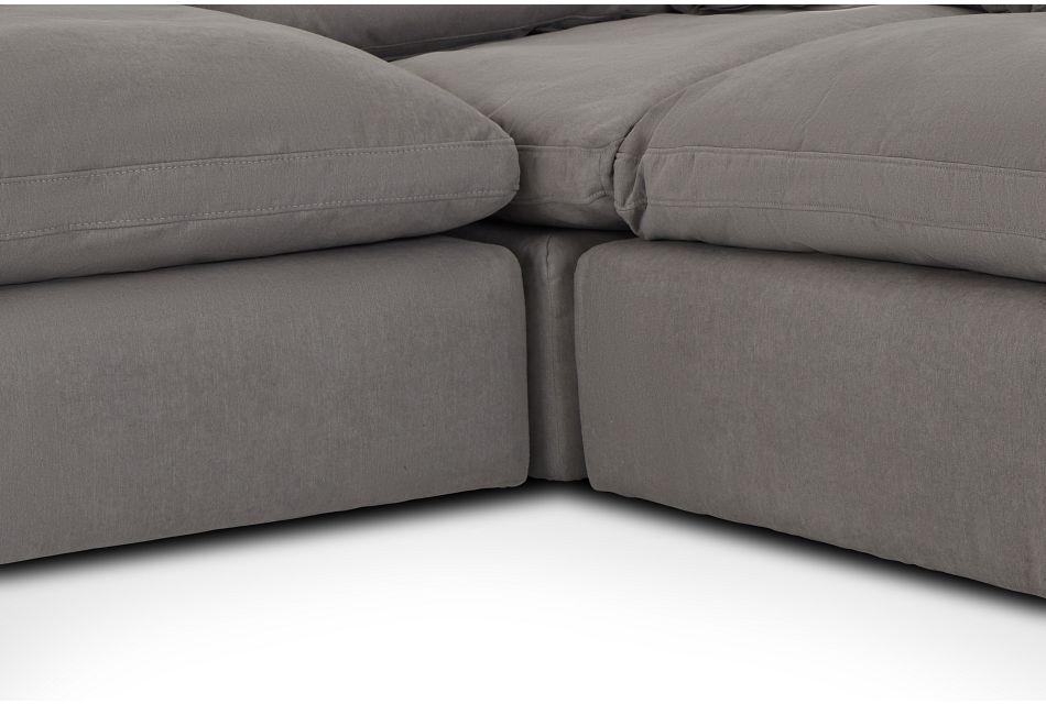 Nixon Light Gray Fabric 4-pc Bumper Sect