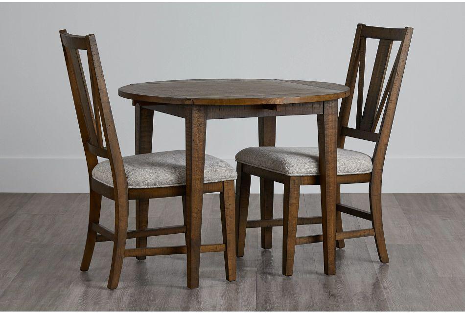 "Heron Cove Mid Tone 38"" Table & 2 Chairs,  (0)"