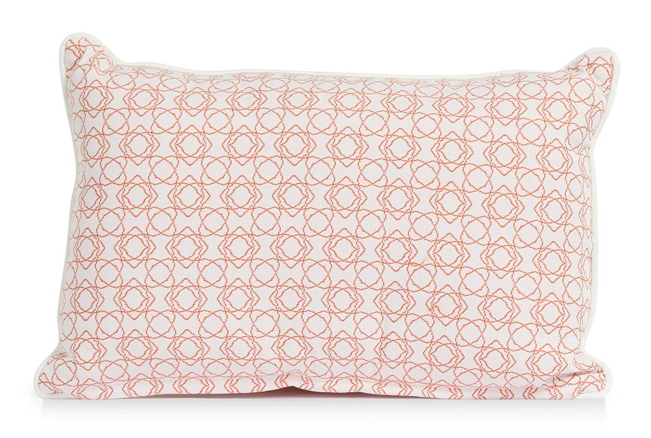 "Valley Orange 13"" Indoor/outdoor Rectangular Accent Pillow"