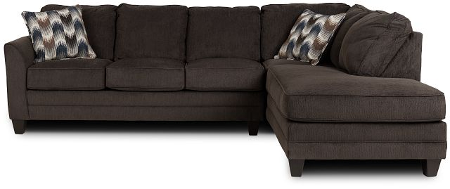 Charlie Dark Gray Fabric Right Bumper Sectional (3)