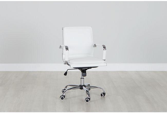 Denver White Uph Desk Chair
