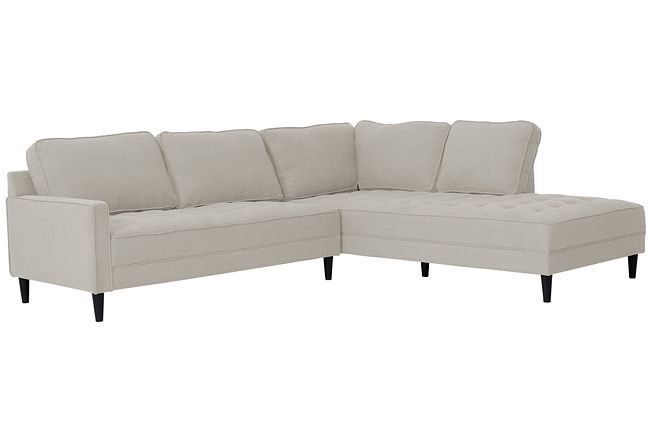 Eli Taupe Micro Right Chaise Sectional