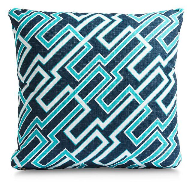 """Jasper Dark Blue 18"""" Indoor/outdoor Accent Pillow (0)"""