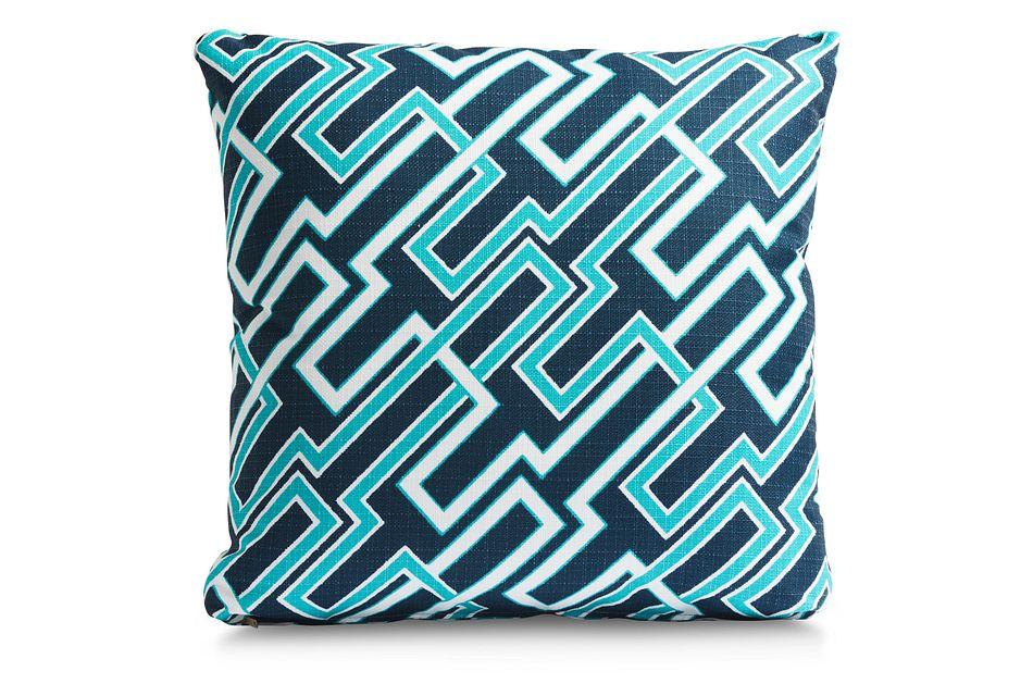 """Jasper Dark Blue 18"""" Indoor/outdoor Accent Pillow"""