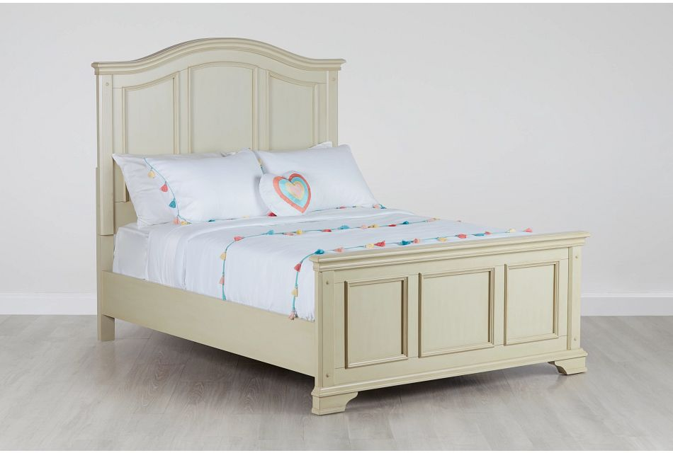 Claire Ivory Panel Bed