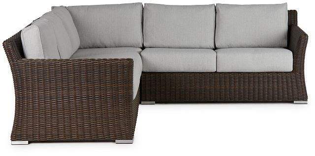 Southport Gray Woven Small Two-arm Sectional (1)