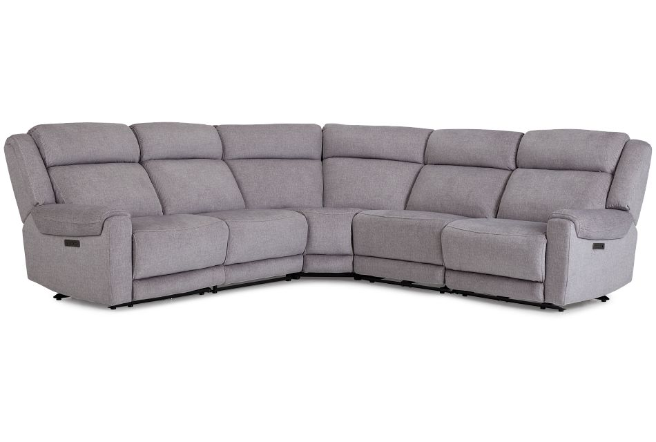 Beckett Gray Micro Small Two-Arm Power Reclining Sectional,  (1)