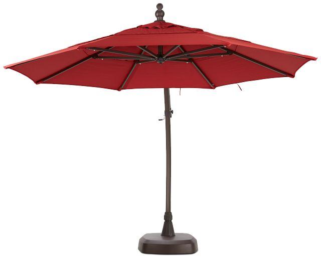 Cayman Red Cantilever Umbrella Set (1)