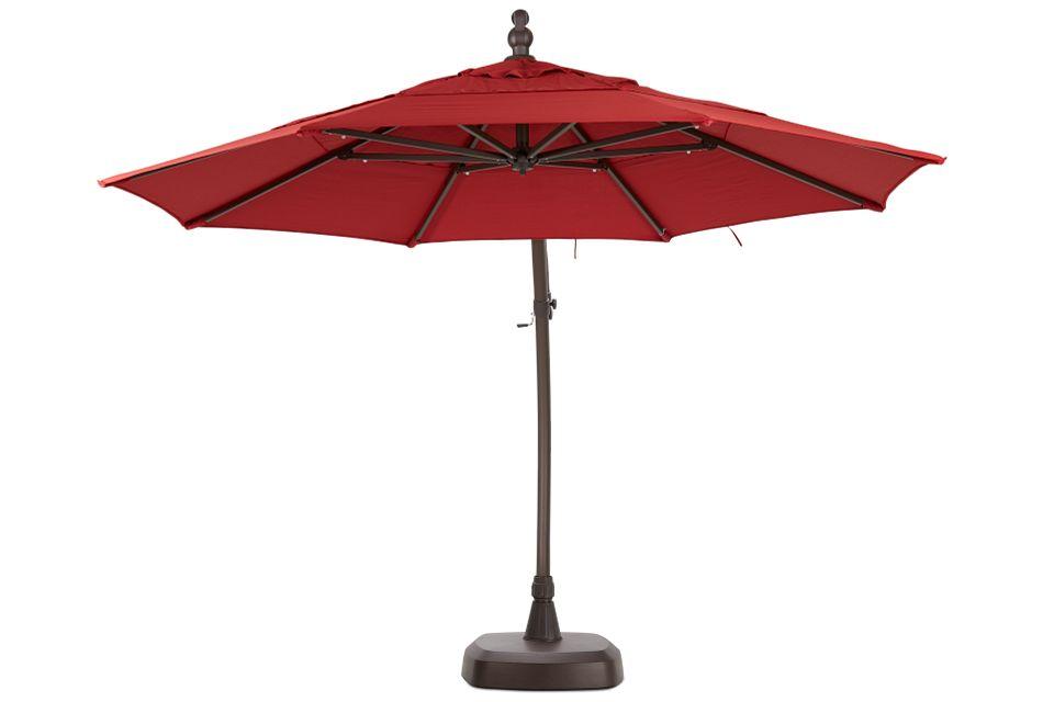 Cayman Red Cantilever Umbrella Set
