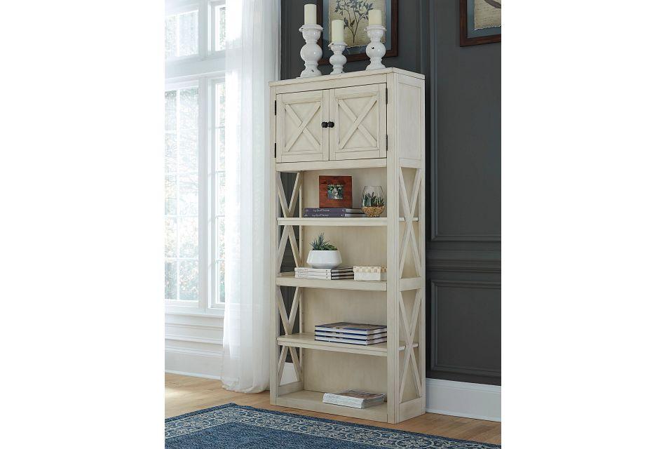 Bolanburg2 Ivory Bookcase