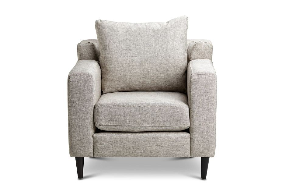 Novara Light Gray Fabric Accent Chair