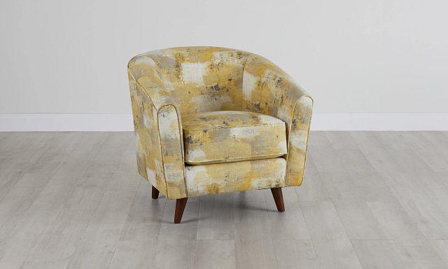 Antalya Yellow Fabric Accent Chair (0)