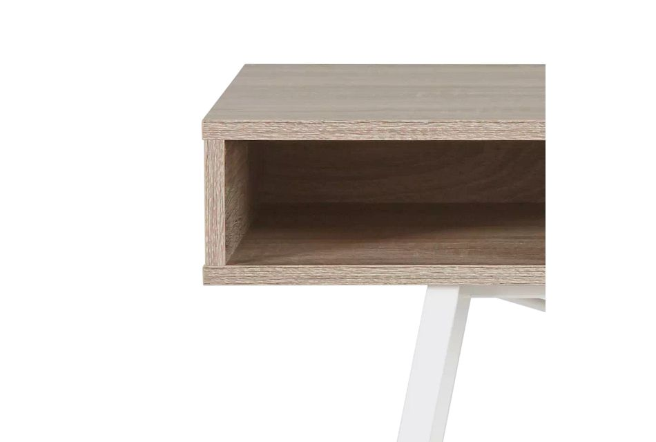 Dallas White Two-tone Desk