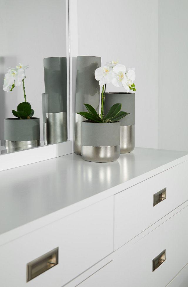 Chatham White Dresser & Mirror (2)