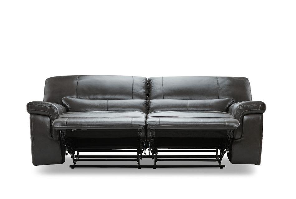 Weston Dark Gray  Lthr/vinyl Reclining Sofa,  (1)