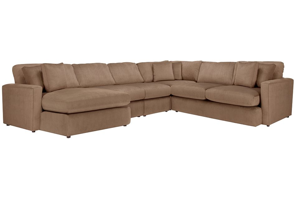 Tara2 Dark Taupe Micro Left Chaise Sectional