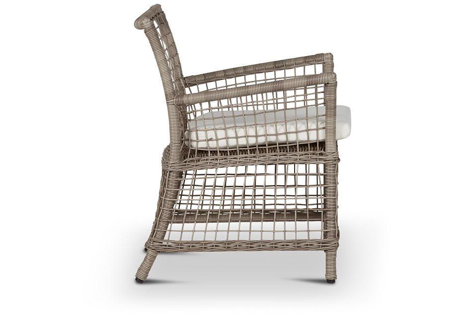 Raleigh White Woven Arm Chair,  (1)