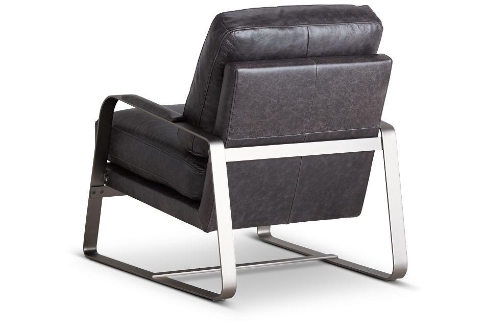 Lex Black Lthr/vinyl Accent Chair,  (3)