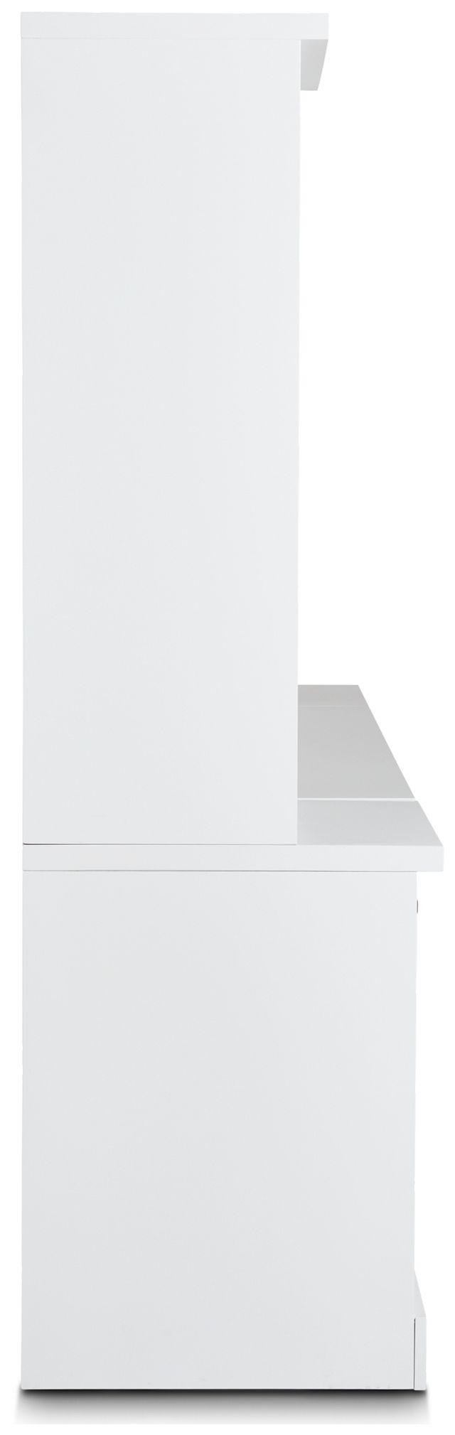 Newport White Small Peninsula Door Wall Desk (3)
