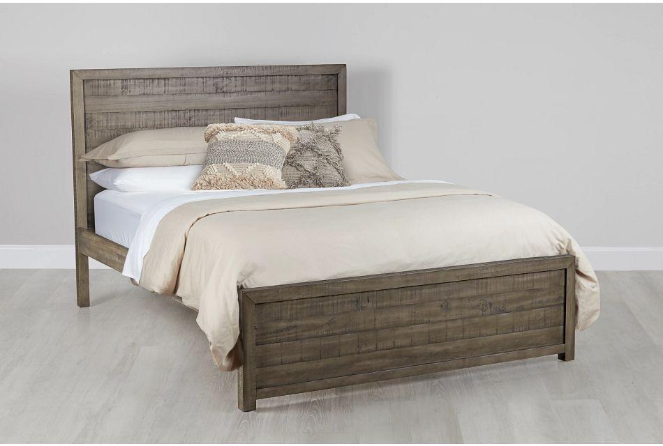 Seattle Gray Wood Platform Bed