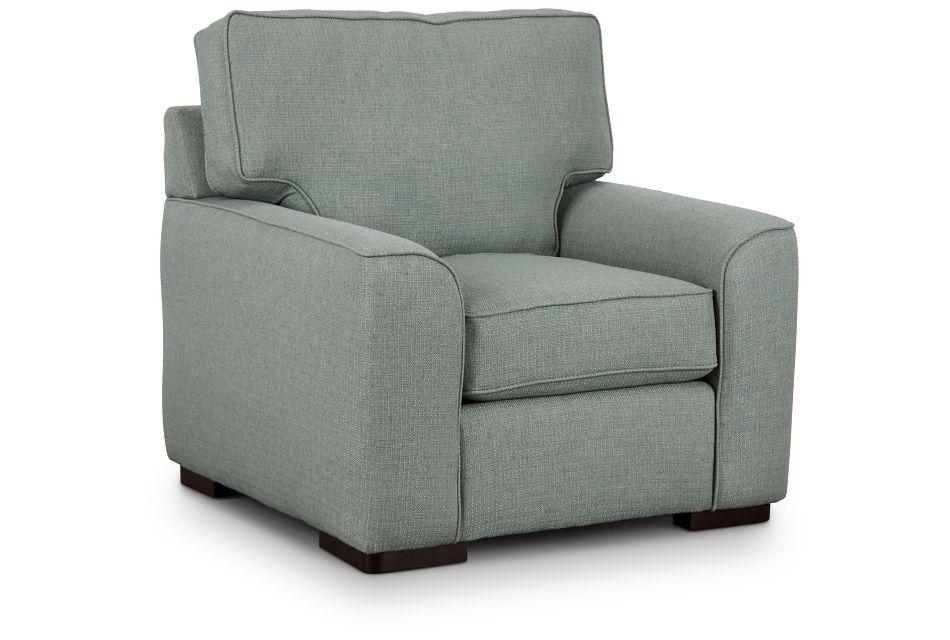 Austin Green Fabric Chair,  (1)