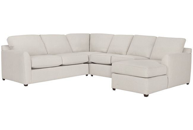 Asheville Light Taupe Fabric Medium Right Chaise Sectional