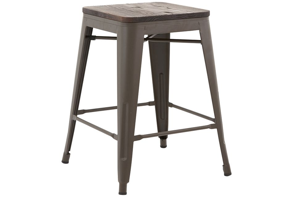"Beck Dark Tone Square 24"" Barstool"