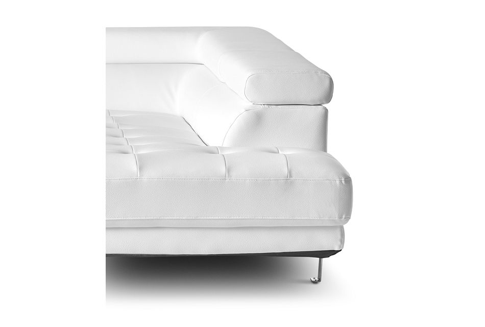 Zane White Micro Right Chaise Sectional