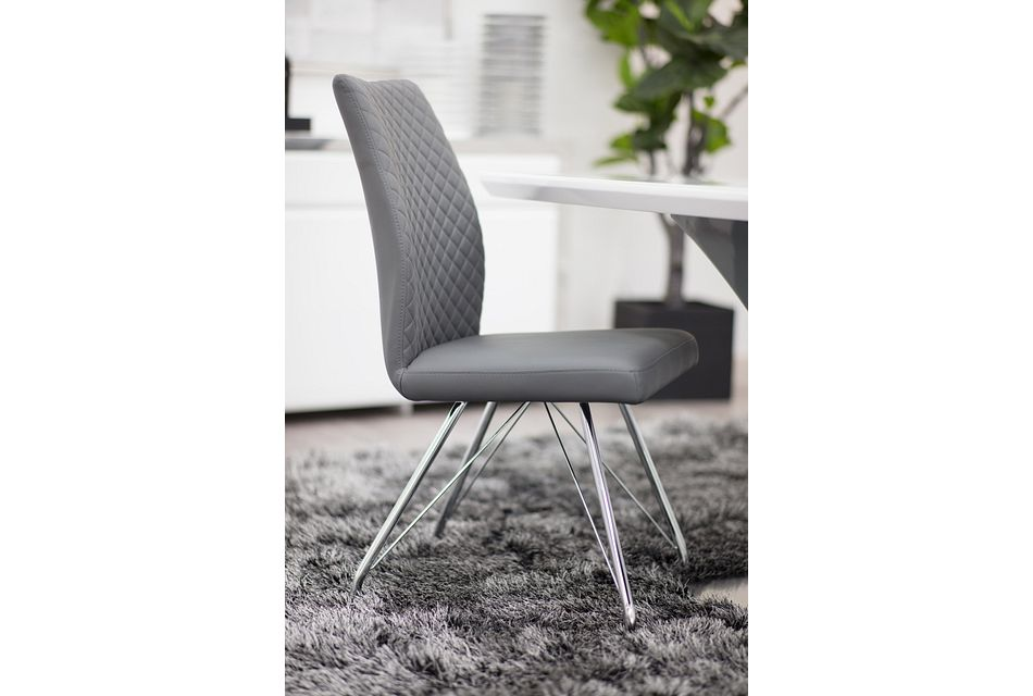 Lima GRAY  Upholstered Side Chair,  (1)