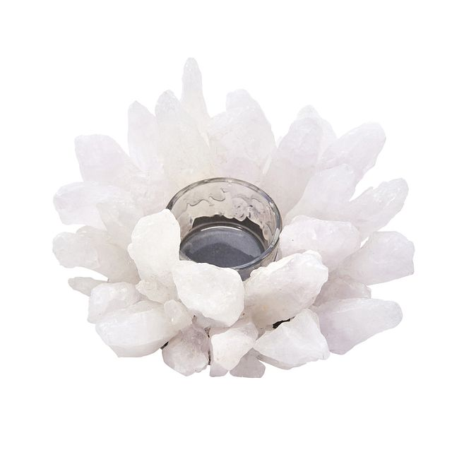 Agate White Candle Holder (0)