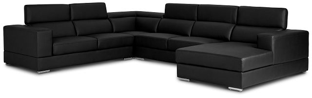 Maxwell Black Micro Large Right Chaise Sectional (2)
