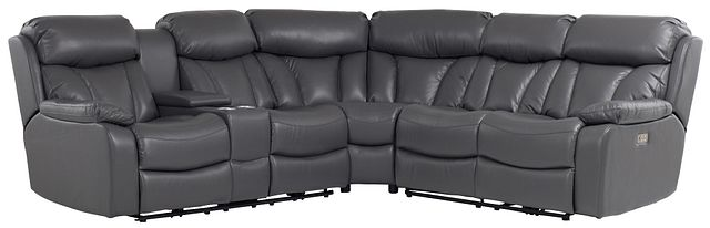 Dustin Gray Micro Left Console Love Reclining Sectional (0)