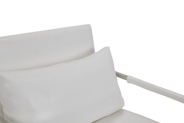 Russell White Uph Accent Chair