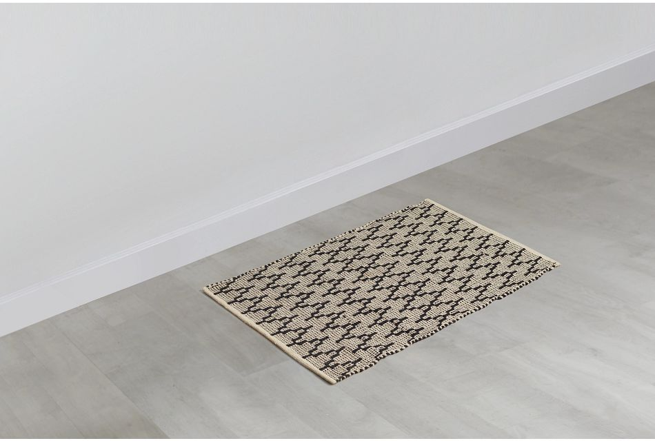Nair Black 2x3 Area Rug