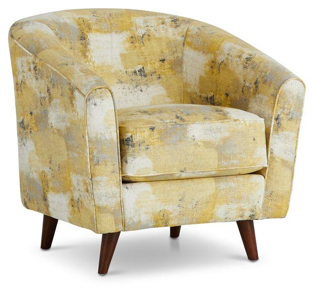 Antalya Yellow Fabric Accent Chair (1)