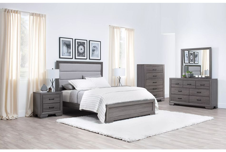 Colson Light Tone  Panel Bed