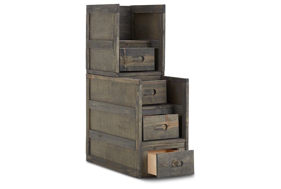 Cinnamon Gray Stairway Chest