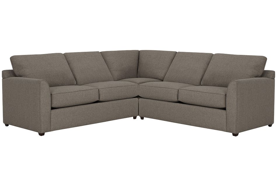 Asheville Brown Fabric Two-arm Left Memory Foam Sleeper Sectional