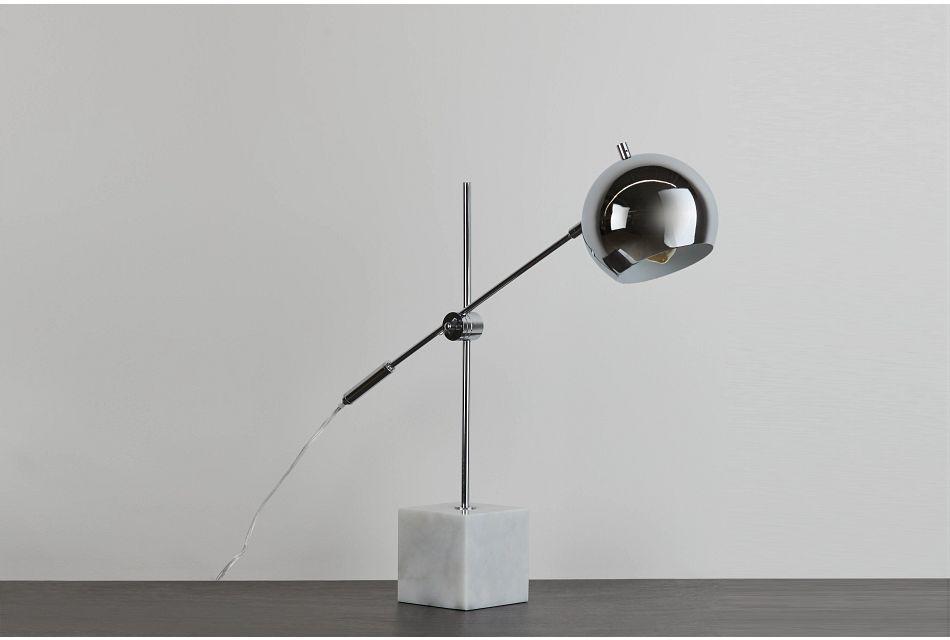 Lanz Silver Desk Lamp