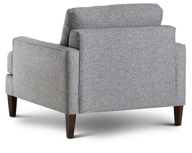 Morgan Dark Gray Fabric Chair With Wood Legs