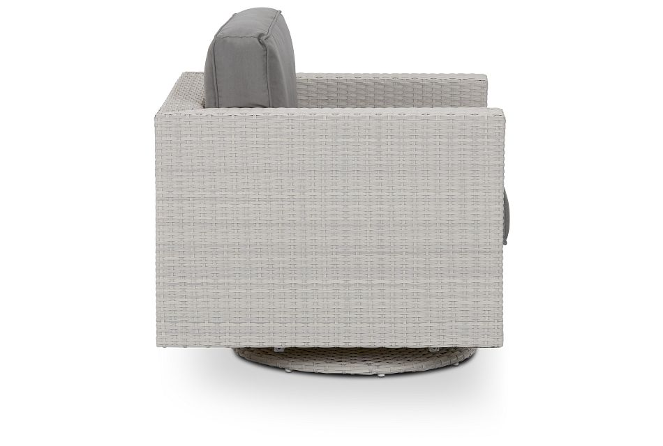 Biscayne Gray Swivel Chair