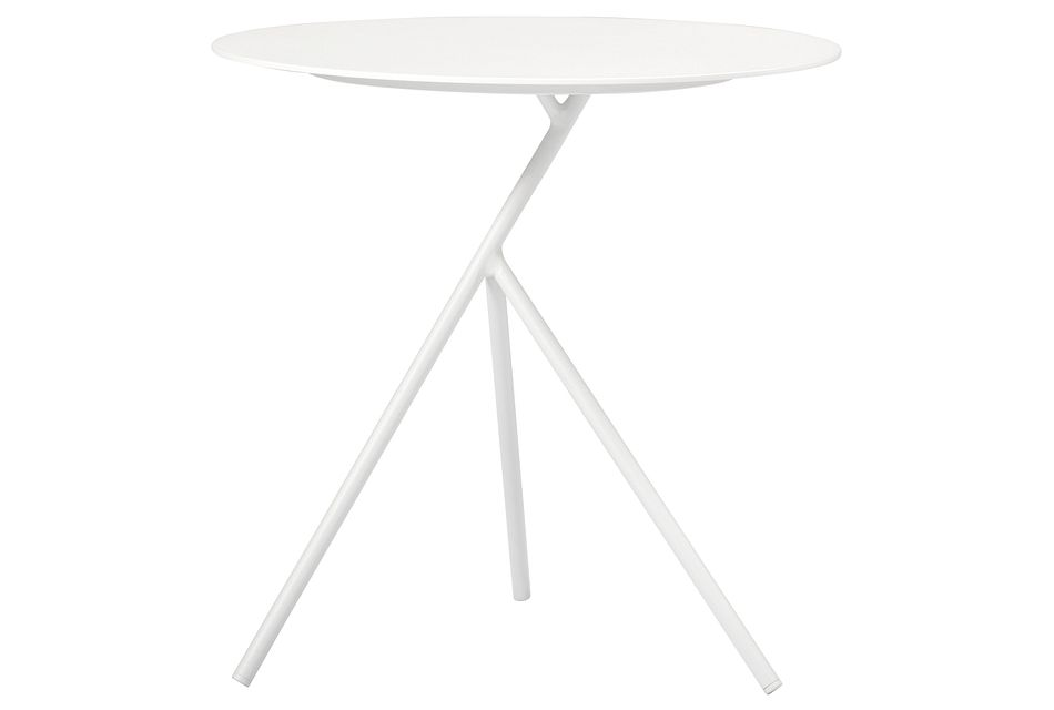 Ibiza White High Accent Table,  (0)