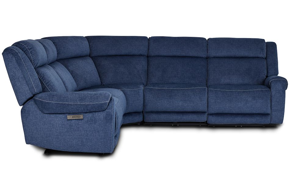 Beckett Dark Blue Micro Small Two-Arm Power Reclining Sectional,  (2)