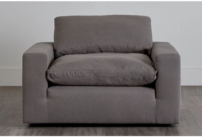 Nixon Light Gray Fabric Chair