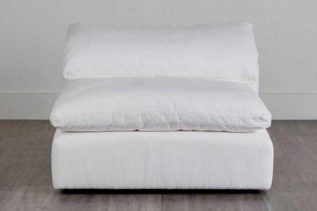 Nixon White Fabric Armless Chair (0)